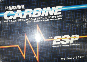 Magnadyne Carbine AL570 Full Featured Mobile Security System (BRAND NEW!)