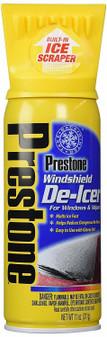 PRESTONE WINDSHIELD DE-ICER SPRAY ICE REMOVER SCRAPER 11 Oz (AS242) NEW!