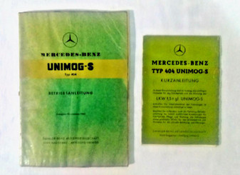 1962 Mercedes-Benz UNIMOG-S Betriebsanleitung w/ Kurzanleitung Pamphlet