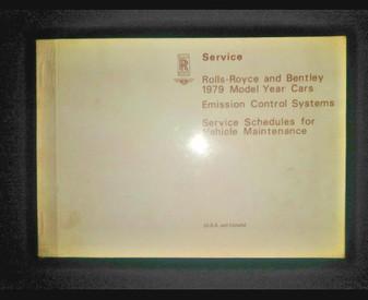 1979 Rolls-Royce and Bentley (Service Schedules) Maintenance Book