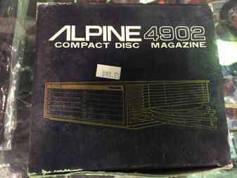 ALPINE 4902 COMPACT DISC CD MAGAZINE  RARE VINTAGE!