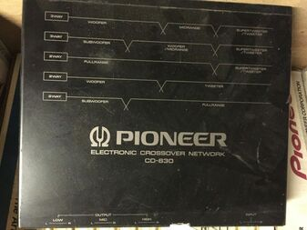 Vintage Pioneer CD-630 Electronic Crossover Network