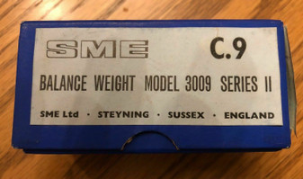 Vintage SME 3009 counter weight for tonearm C.9 in open Box NOS