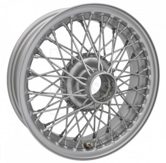 """(4) 15 x 5"""" MG British Sport 60 Spoke Classic Wire Wheels 