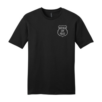 Left Chest Retro Buffalo City Police T Shirt