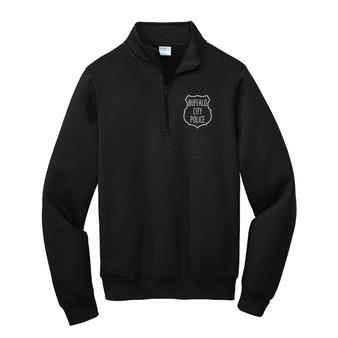Core Fleece 1/4-Zip Pullover Sweatshirt BPD Vintage Badge