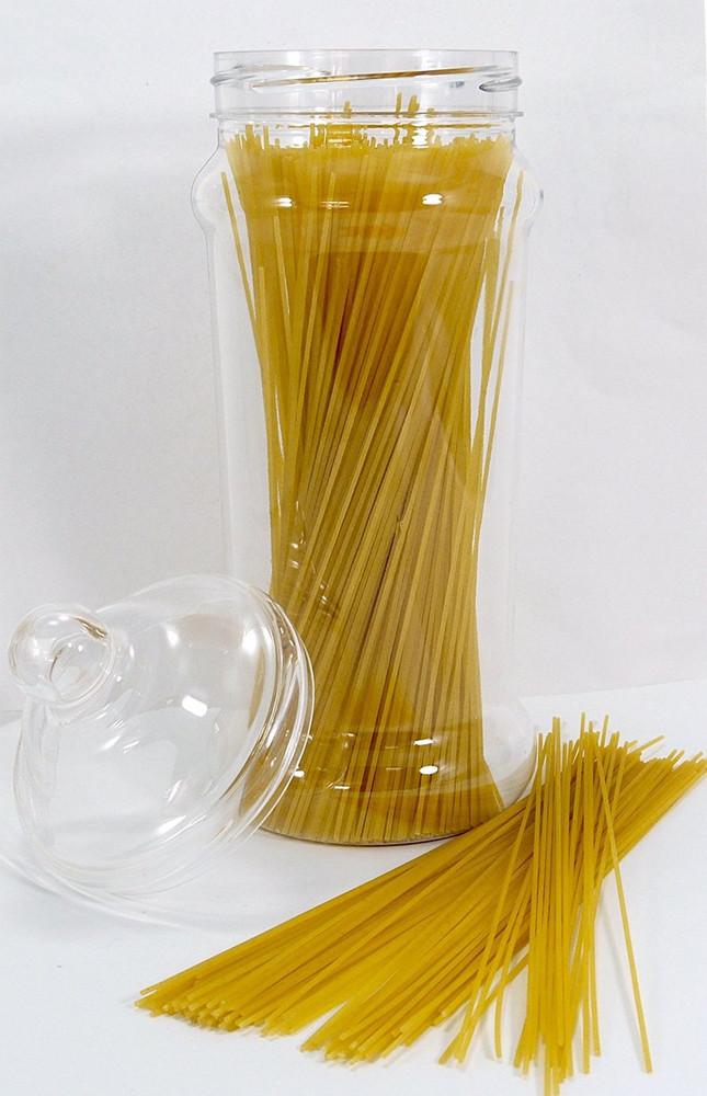 3 Tall and Slim Kitchen Pasta Storage Jars with Victorian lids
