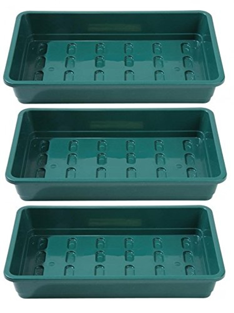 Pack of 3 Professional Seed trays WITHOUT HOLES