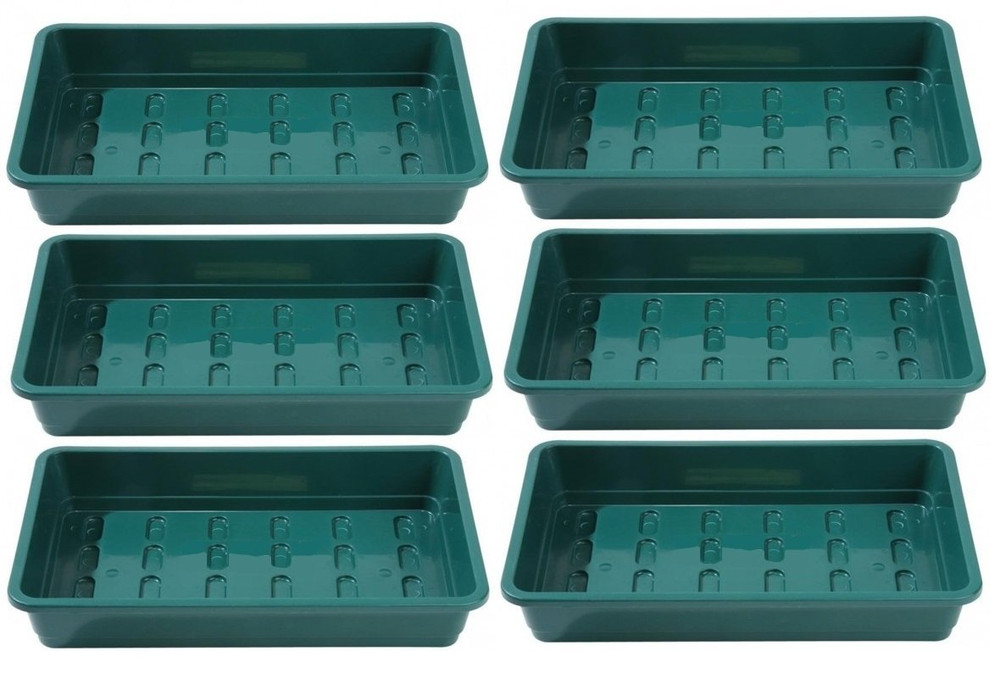 Pack of 6 Professional Seed trays WITHOUT HOLES