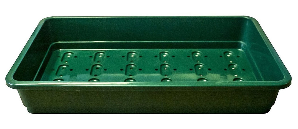 Pack of 10 Professional Seed trays. Full size, GREEN