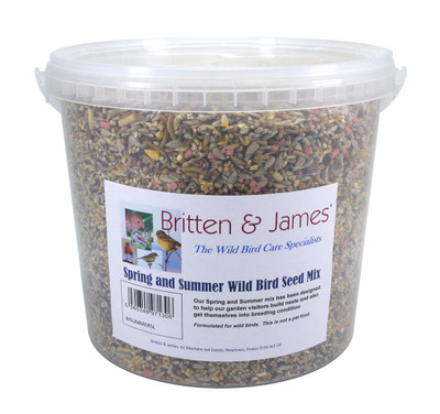 Essential Spring and Summer Wild Bird seed mix. 5 Litre Tub