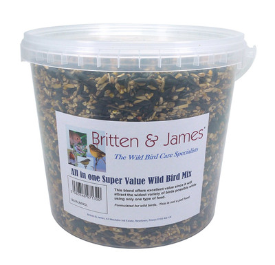 All in one Super Value Wild Bird Mix. 5 Litre Tub