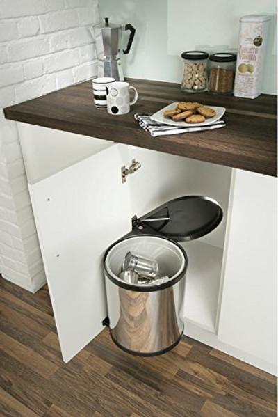 Britten & James Hands Free built In 15 Litre waste bin.