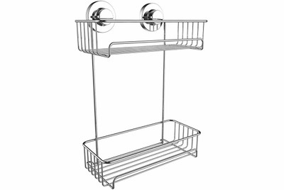 Superior Suction Fit Shower Tidy with 2 shelves.