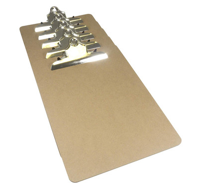 A pack of 5 superior quality A4 Masonite Clipboards from Britten & James.