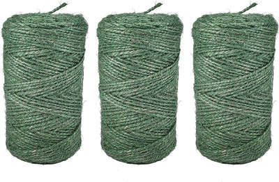 Green Garden Jute Twine, 100m per roll (Pack of 3)