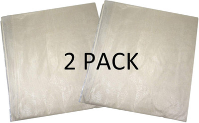 Pack of 2 Premium Cotton Dust Sheets 3.6m x 2.7m (12ft x 9ft). Absorbs Spills with Zero Soak Through