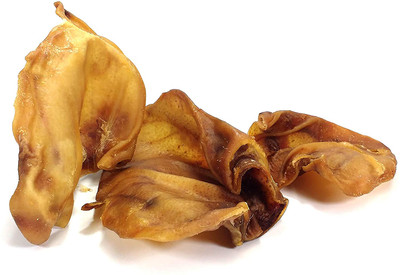 Large Pigs Ears (Tub of 15). Healthy and 100% Natural Dog Treat - Grade A Quality British Produce