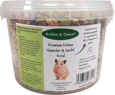Hamster and Gerbil Food Mix (1.5kg). A Natural and Healthy Seed and Nut Mix for Hamsters, Gerbils and Mice