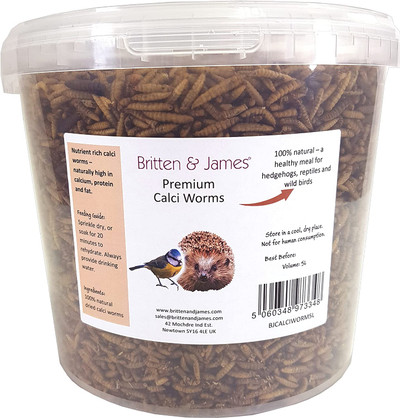 Dried Calci Worms in a 5L Tub. High in Calcium and Protein