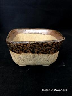 """High Fired Pot, Hand Made, 6""""x6""""x3"""""""