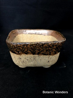 "High Fired Pot, Hand Made, 6""x6""x3"""