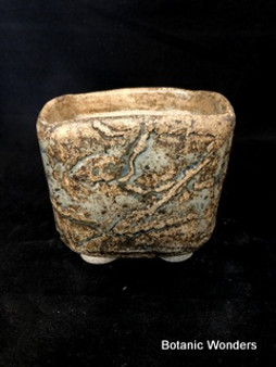 "High Fired Pot, Hand Made, 4.5""x4.5""x4"""