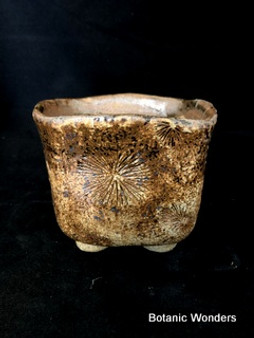 "High Fired Pot, Hand Made, 5""x5""x4"""