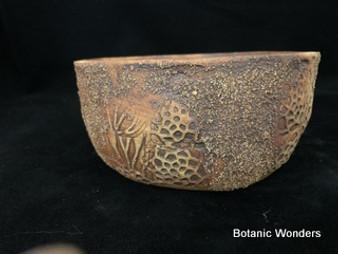 "Handmade pot, Susan Aach, 6.5""x3"", Round, Earthy"
