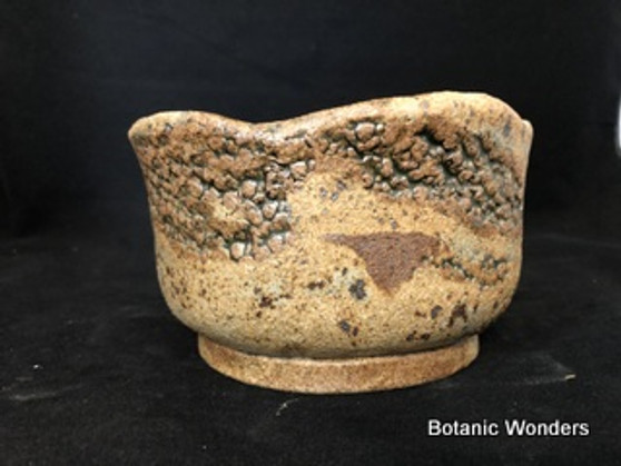 "Round,High Fired Pot, Hand Made, 6""x4"""