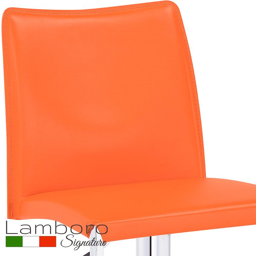 Eccellente Signature Bar Stool Tan Orange