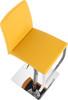 Eccellente Signature Real Leather Bar Stool Mustard