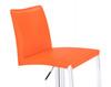 Eccellente Signature Real Leather Bar Stool Tan Orange
