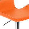 Favoloso Signature Real Leather Bar Stool Tan Orange