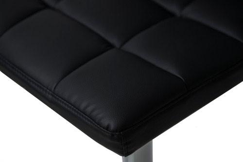 Allegro Brushed Bar Stool Black
