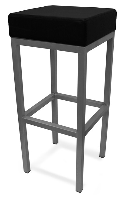 Cube Bar Stool Black