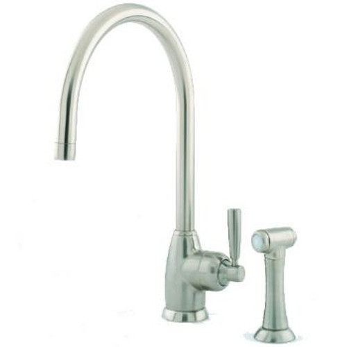 Perrin & Rowe Mimas - C Spout 4846 (with Rinse) Kitchen Tap - Nickel Finish