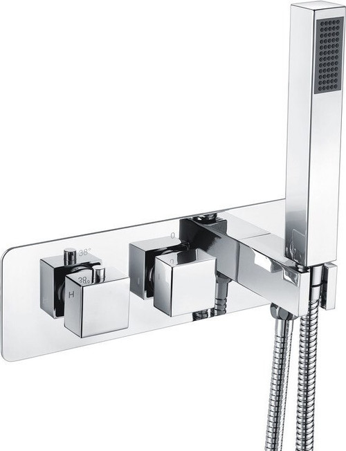 Targa Thermostatic Shower Valve with Handset - Two Outlet