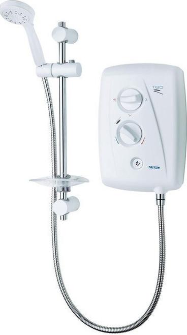 Triton T80ZFF Electric Shower 10.5kW- White/Chrome