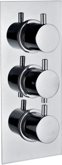 Circa Thermostatic Triple Shower Valve - Two Outlet