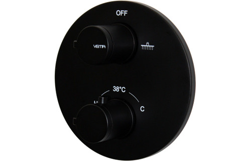 Vema Timea Black Two Outlet Thermostatic Valve