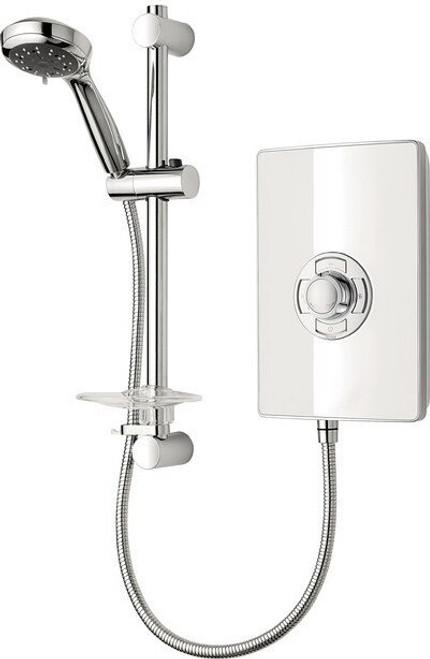 Triton Aspirante 9.5kW Contemporary Electric Shower - White Gloss