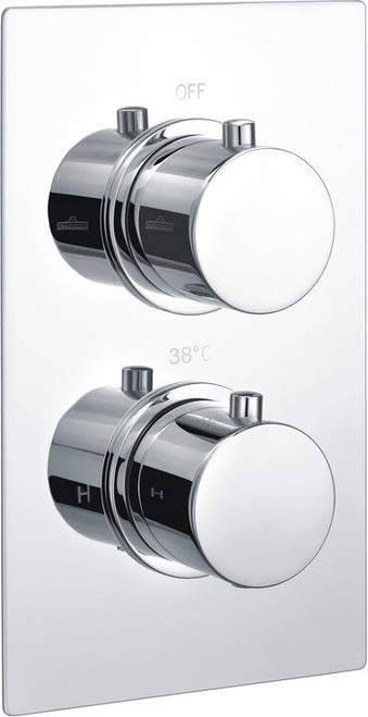 Circa Thermostatic Twin Shower Valve - Two Outlet
