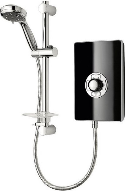 Triton Aspirante 8.5kW Contemporary Electric Shower - Black Gloss