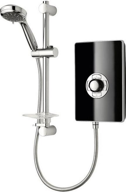 Triton Aspirante 9.5kW Contemporary Electric Shower - Black Gloss