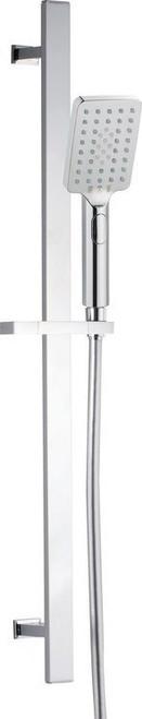 Square Push Button Shower Kit - Chrome