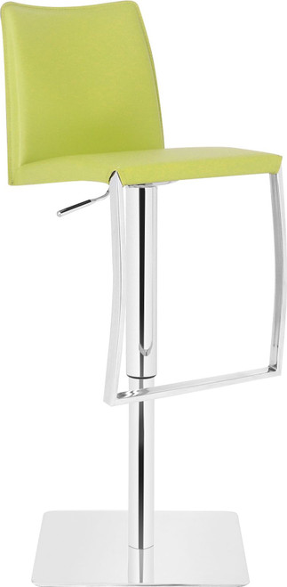 Eccellente Signature Real Leather Bar Stool Lime Green