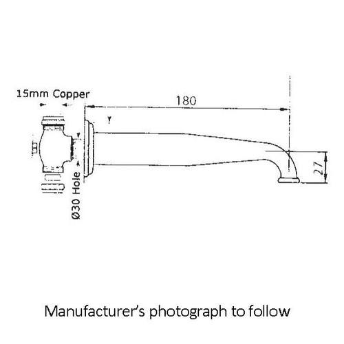 Perrin & Rowe 3565 Low Profile Basin Spout