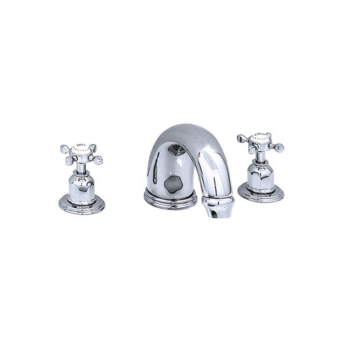Perrin & Rowe 3259 Three Hole Mixer Set Tap, Crosshead Handles