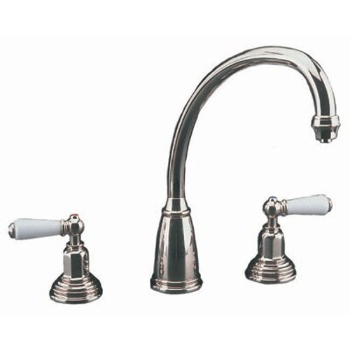 Perrin & Rowe Athenian Etruscan Spout 4783 Kitchen Tap - Pewter Finish